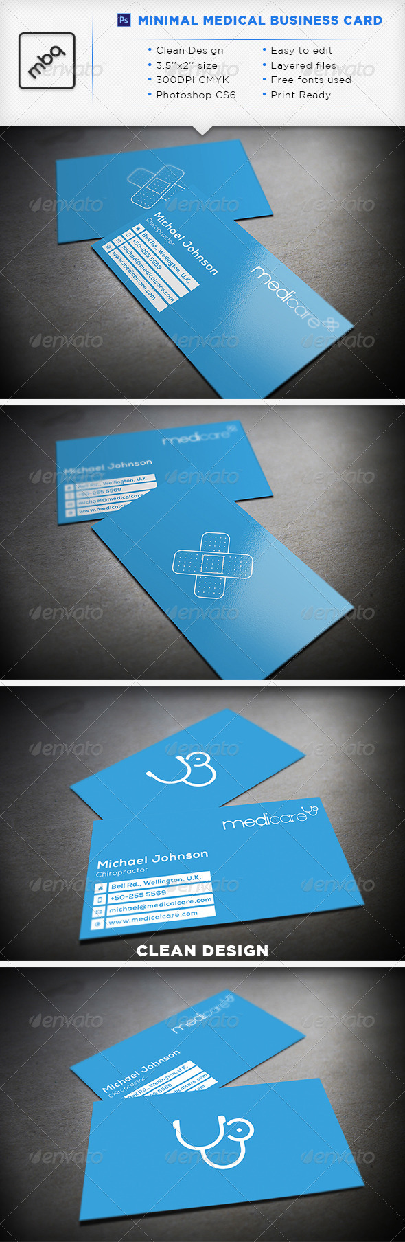 Minimal medical business card graphicriver minimal medical minimal medical business card graphicriver minimal medical business card fully editable d reheart Images