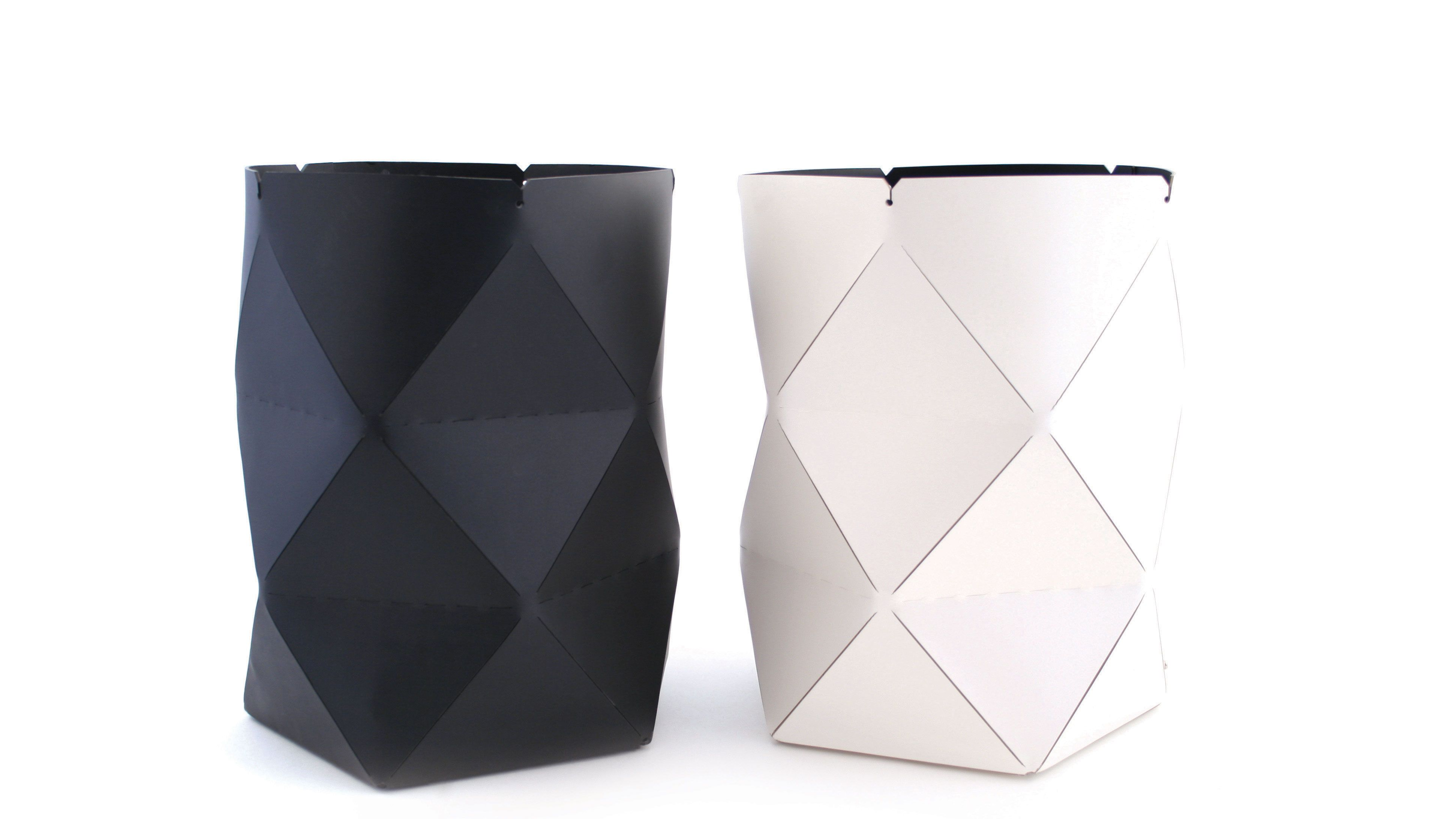 Pinetti big leather baskets - white and black