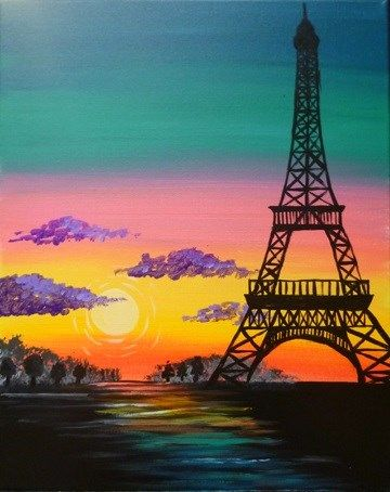 Remember Lavi Ka Bel Life Is Beautiful Painting The Eiffel Tower Is Made Easy With This Silhouette And Sip Paris Painting Eiffel Tower Painting Paris Canvas