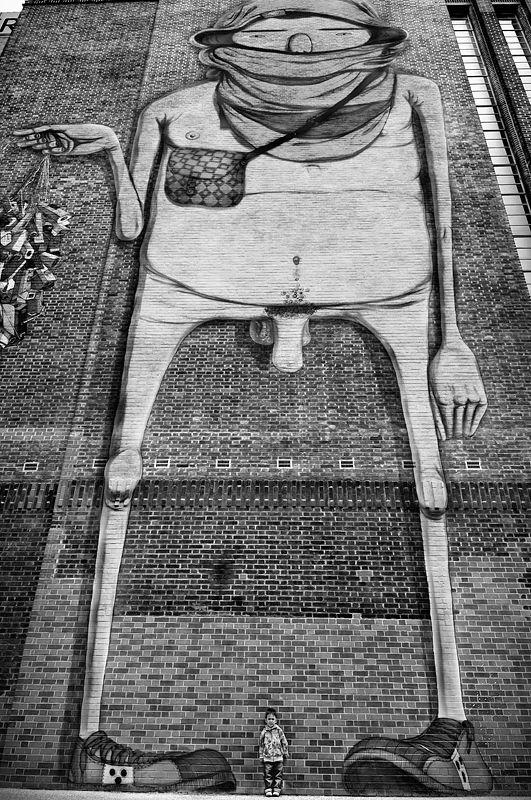 Tate Modern - Street Art Black and White Photo271 | Random things ...
