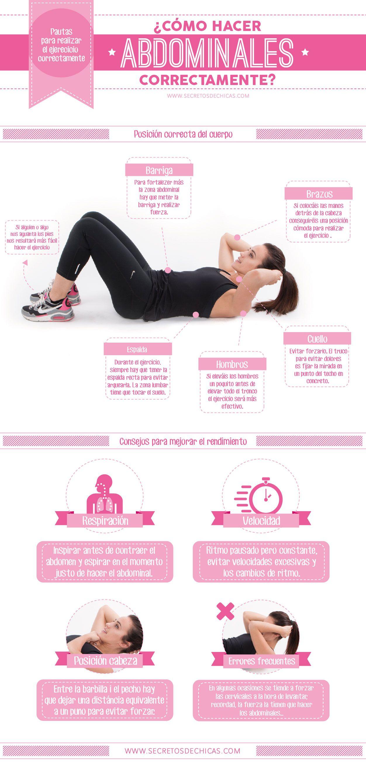 como se hacen correctamente los abdominales