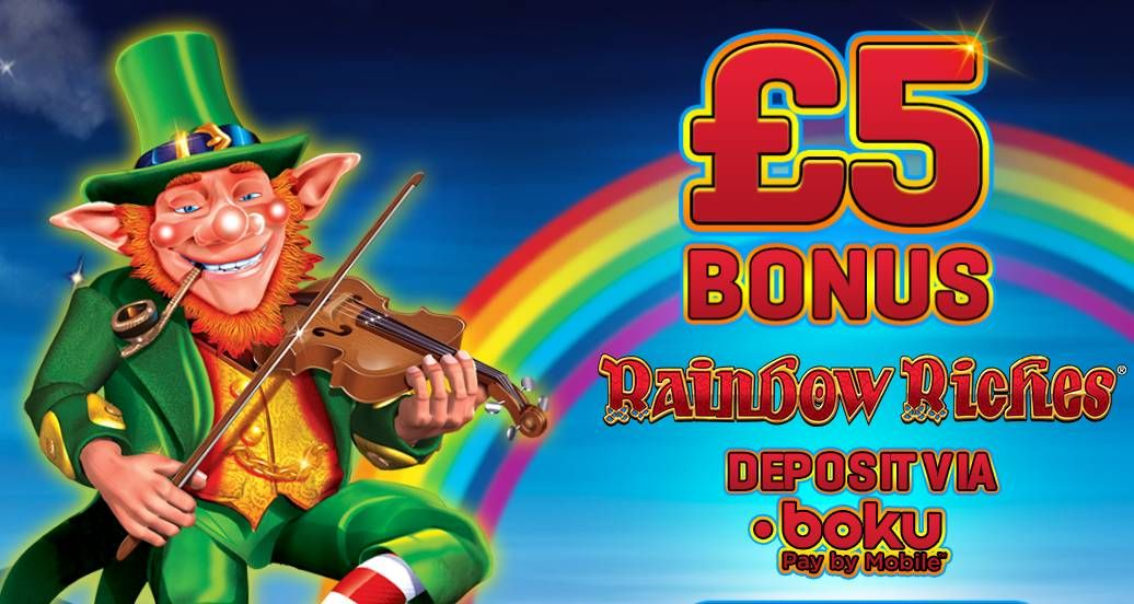 Cloud Casino – Exclusive £5 Free Chip on Rainbow Riches (UK only)