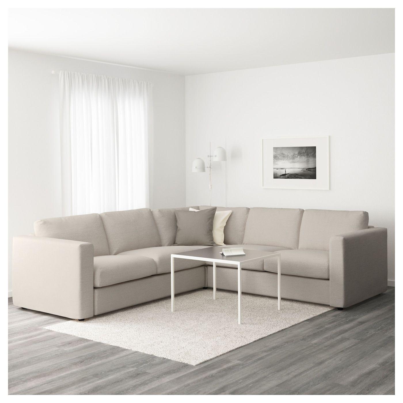 IKEA VIMLE Sectional, 4seat corner Gunnared beige