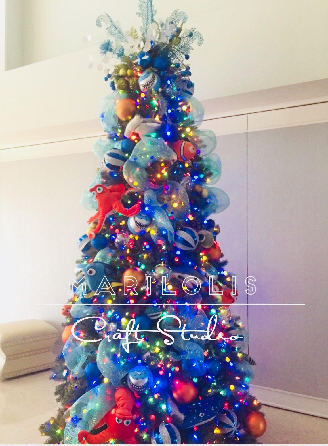 Nemo Christmas Tree Christmas Tree Decorating Themes Christmas Tree Decorations Christmas Tree