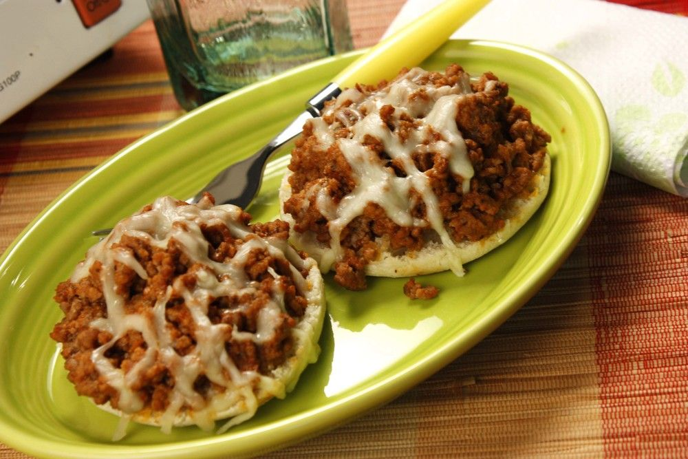 Beefy Pizza Muffins   mrfood.com
