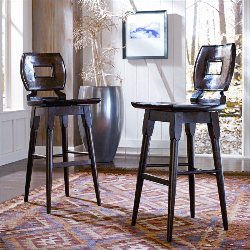 Artisan   Wood Bar Stool In Barrel   135 11 73   Stanley Furniture