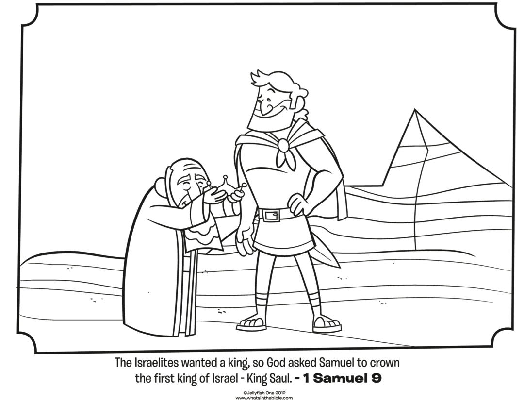 Coloring pages bible stories preschoolers - Saul And Samuel Bible Coloring Pages What S In The Bible