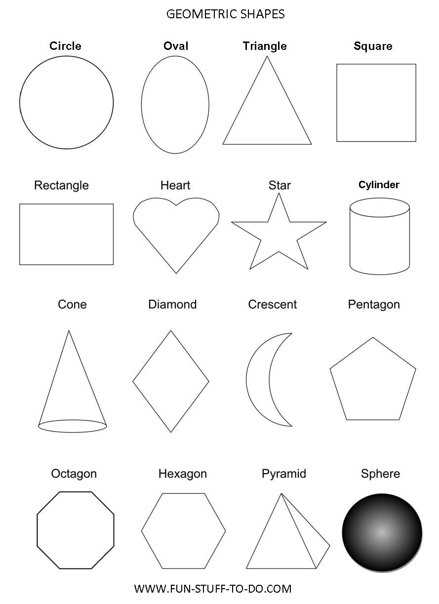 Worksheets Geometric Shapes Worksheets basic geometric shapes homeschool math pinterest shapes