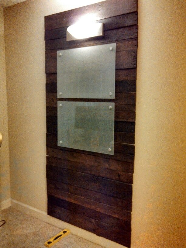 DIY Pallet Board Wall For The Office! With Frosted Glass Dry Erase Boards