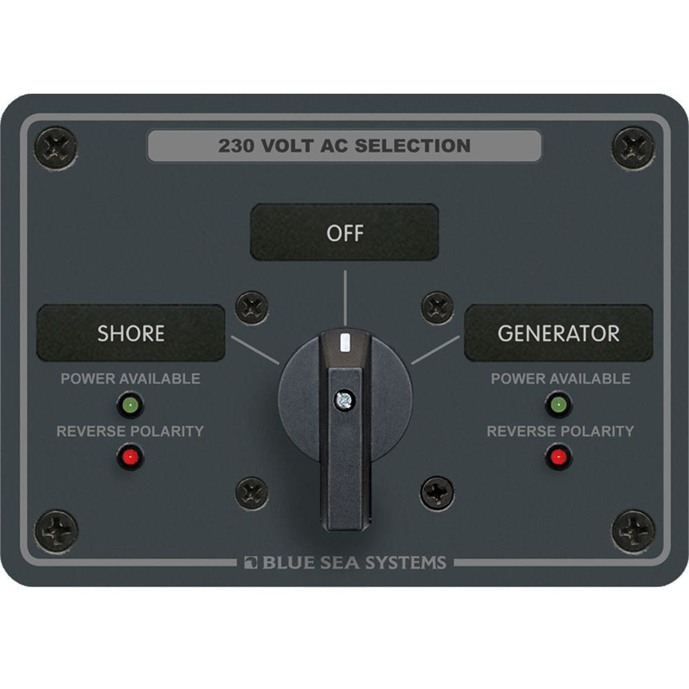 Blue Sea 8359 Ac Rotary Switch Panel 30 Ampere 2 Positions Off 2 Pole Boat Parts For Less Blue Sea Paneling Ampere