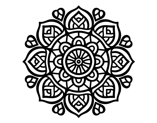 Desenho De Mandala Para A Concentração Mental Para Colorir