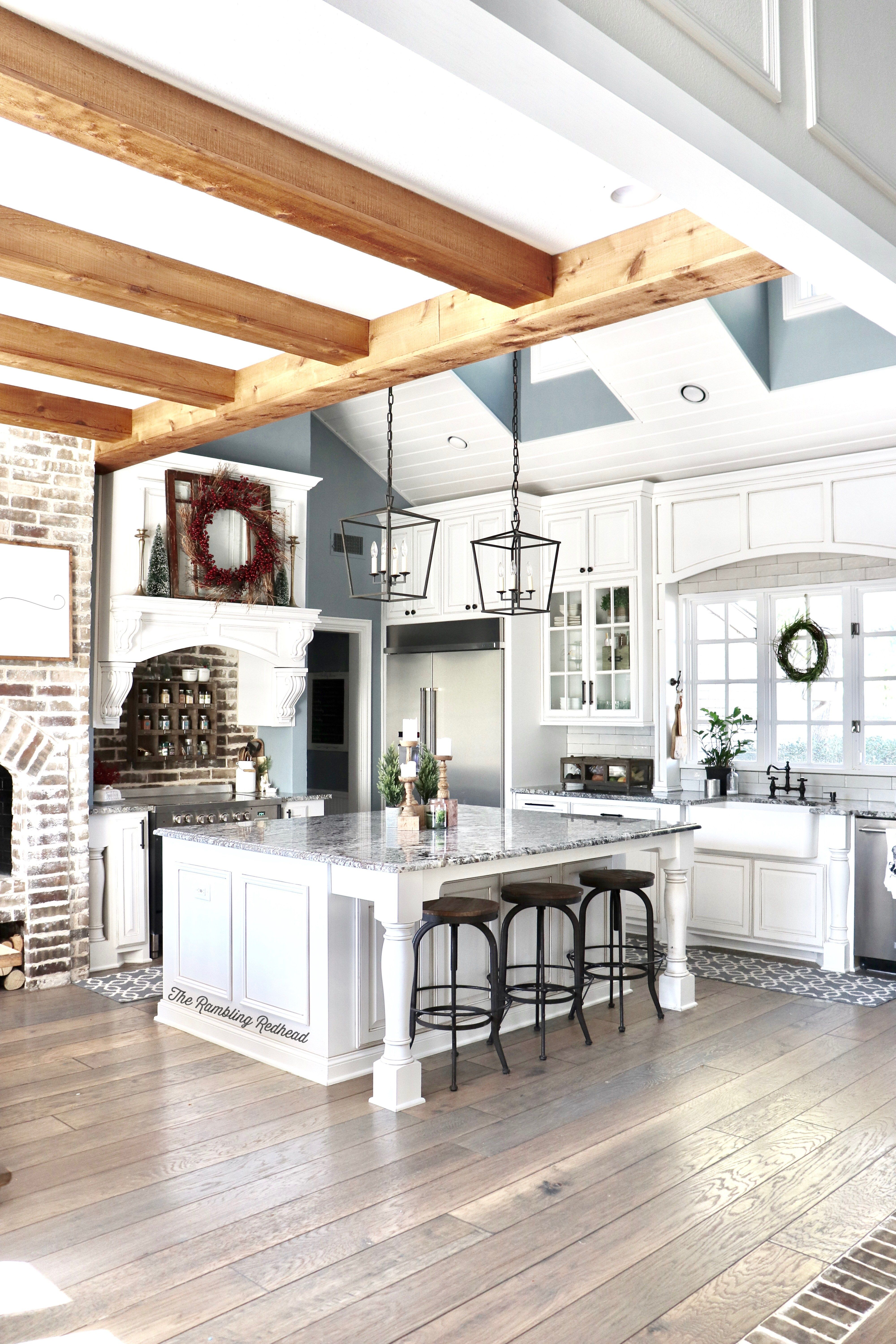 KITCHEN OF MY DREAMS and an amazing Christmas Home Tour #farmhouse ...