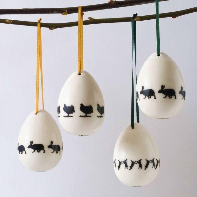 Keramik Ostereier-Dekorationsstück ideen-Tisch schmuck   Ostern ...