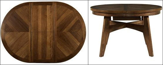 Walnut Round To Oval Dining Table With Butterfly Leaf  When I Custom Dining Room Tables With Leaves Design Decoration