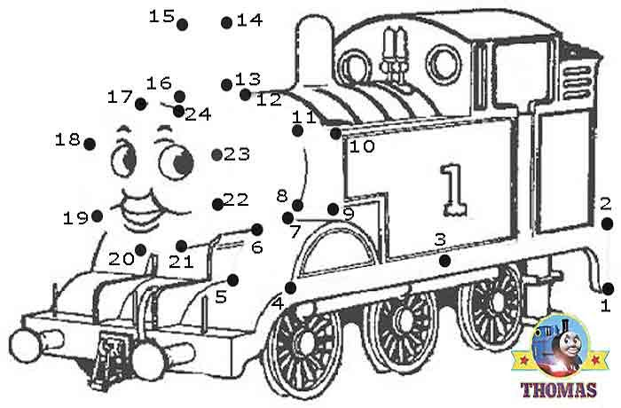 Play Online Game Puzzle Thomas The Train Dot To Dot For Kids
