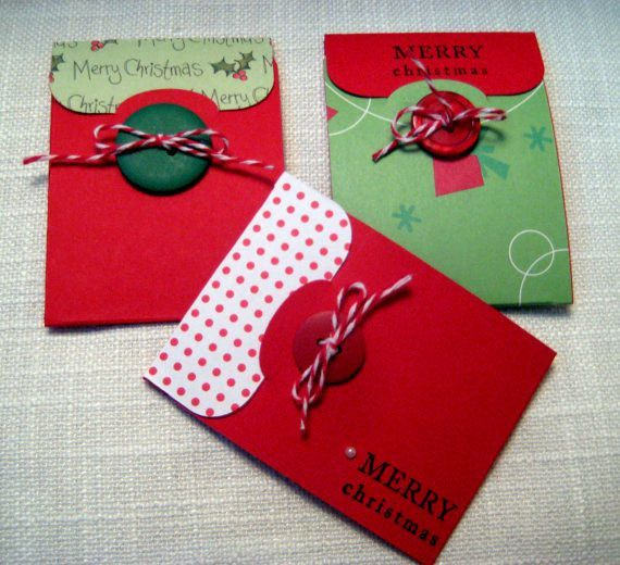 Diy gift card holder christmas