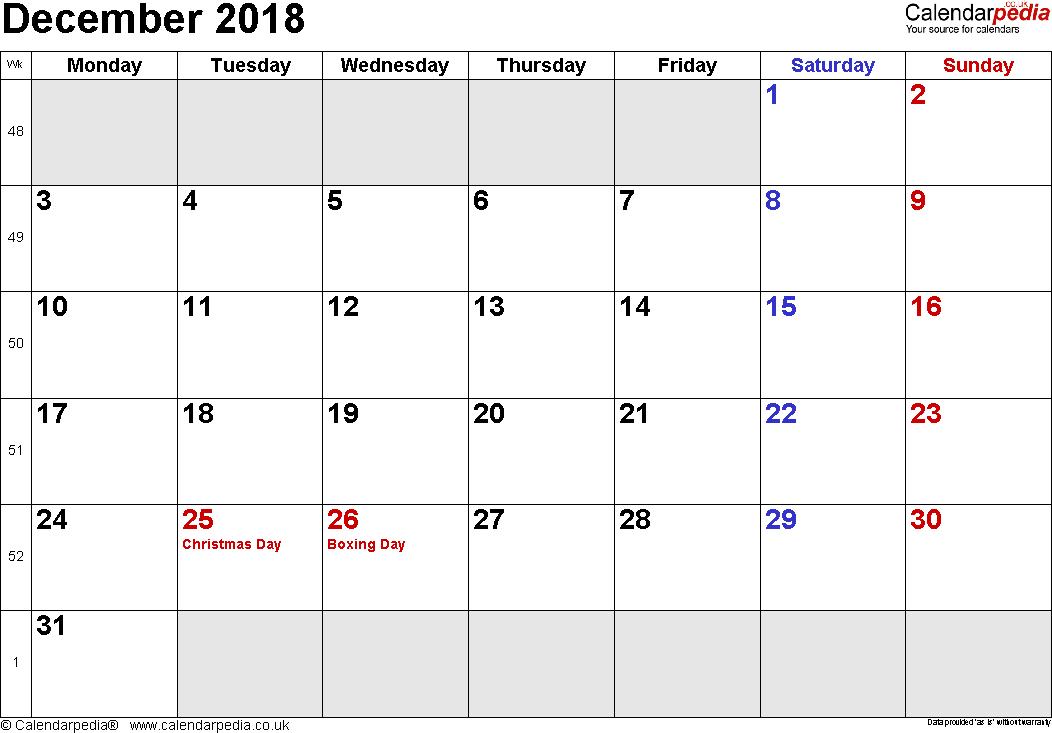 december 2018 calendar uk ukcalendar decemberukcalendar december2018calendaruk