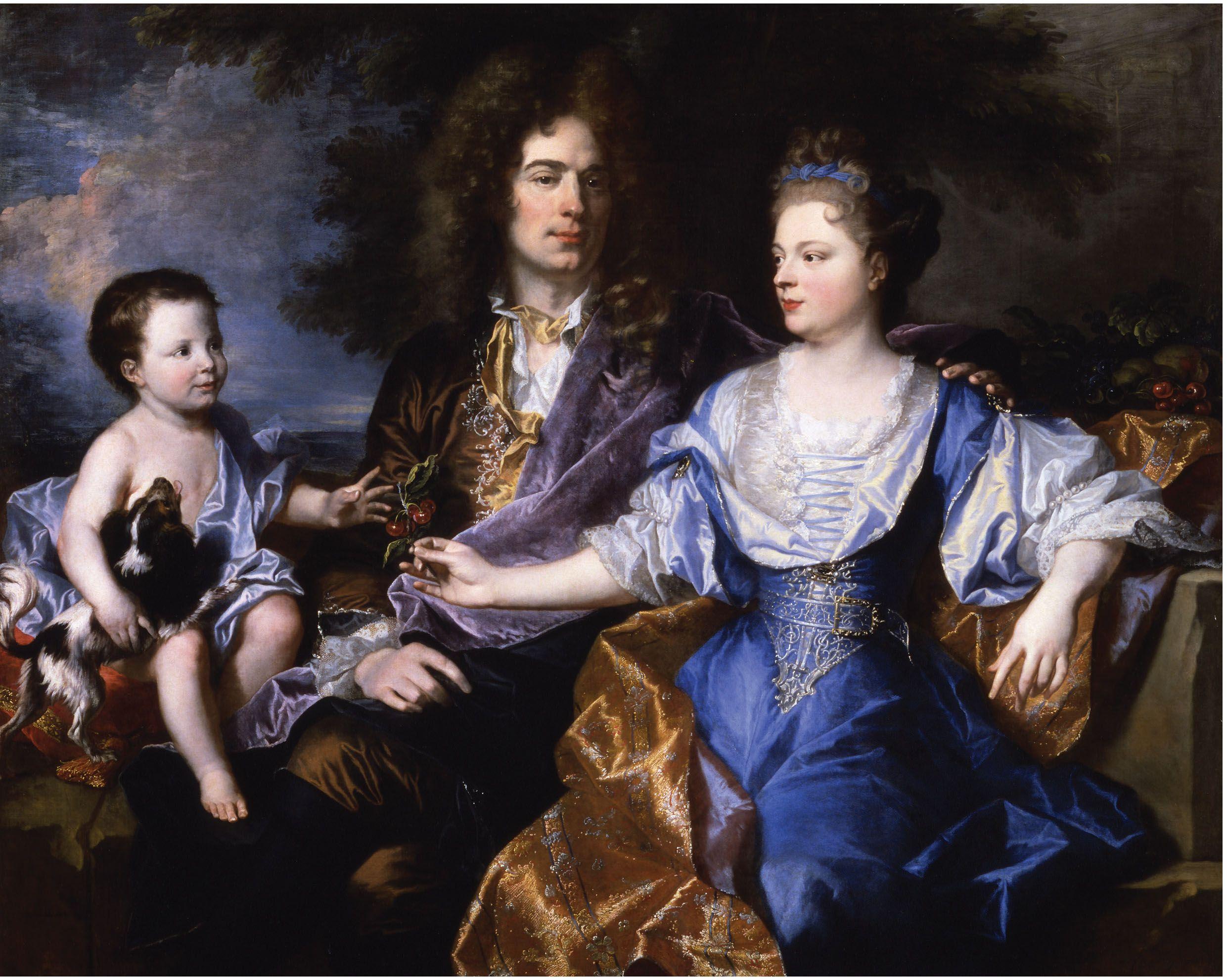 Hyacinth rigaud la familia leonard 1692 potrait painting painting portraits family portraits