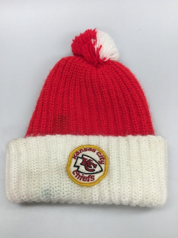 a45ec3e42 Details about New Era 2019 NFL Kansas City Chiefs Cuff Pom Knit Hat ...