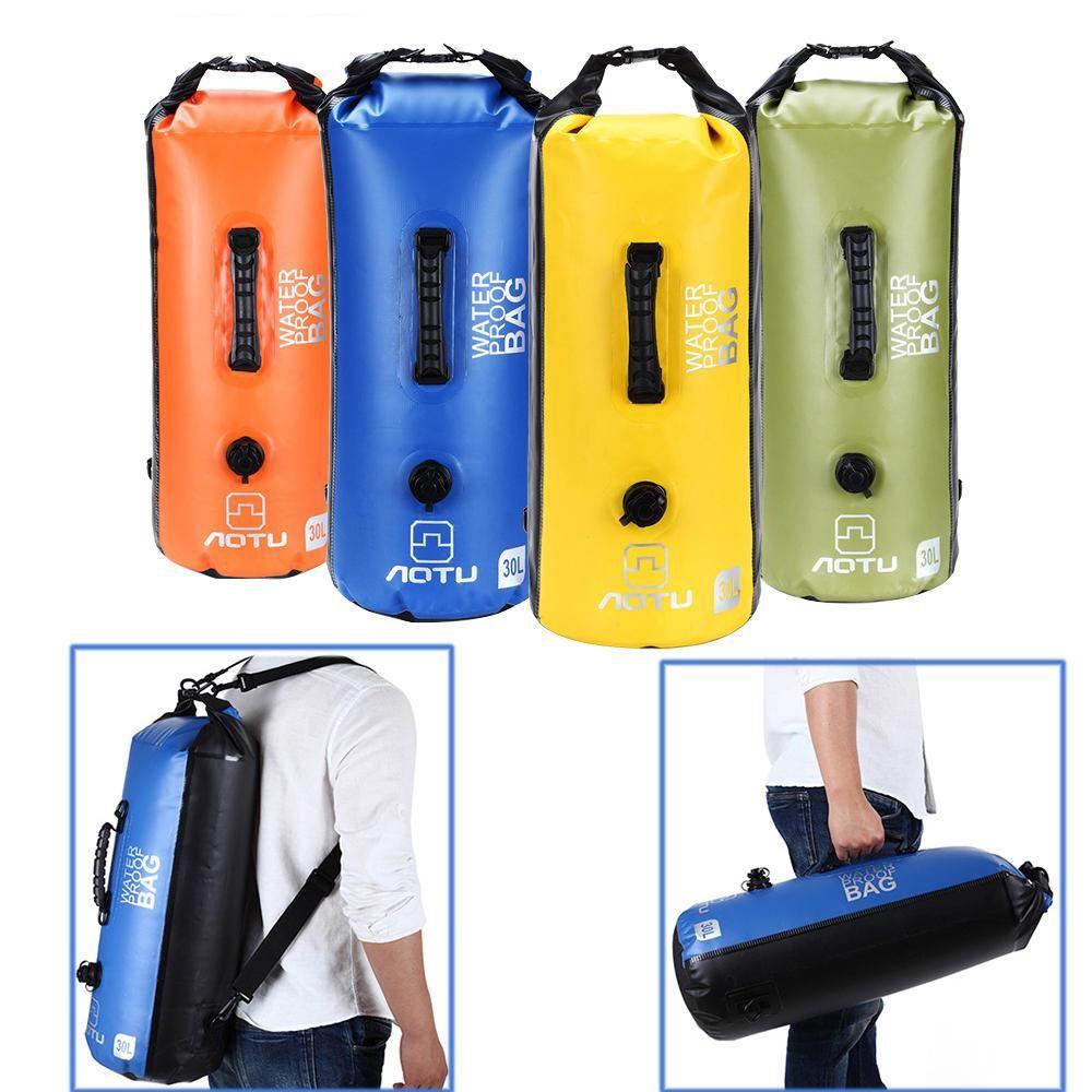 8e3fad51d74 30L IPX7 Waterproof Dry Air Bag Portable Beach Ocean Drifting Swimming  Backpack