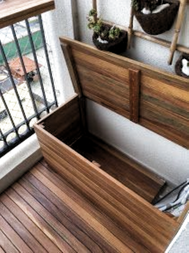 Hölzerne und mobile Plattform, um den Kondensator zu nehmen - Kleiner Balkon Ideen - #Balkon #den #hölzerne #Ideen #kleiner #Kondensator #MOBILE #nehmen #Plattform #und