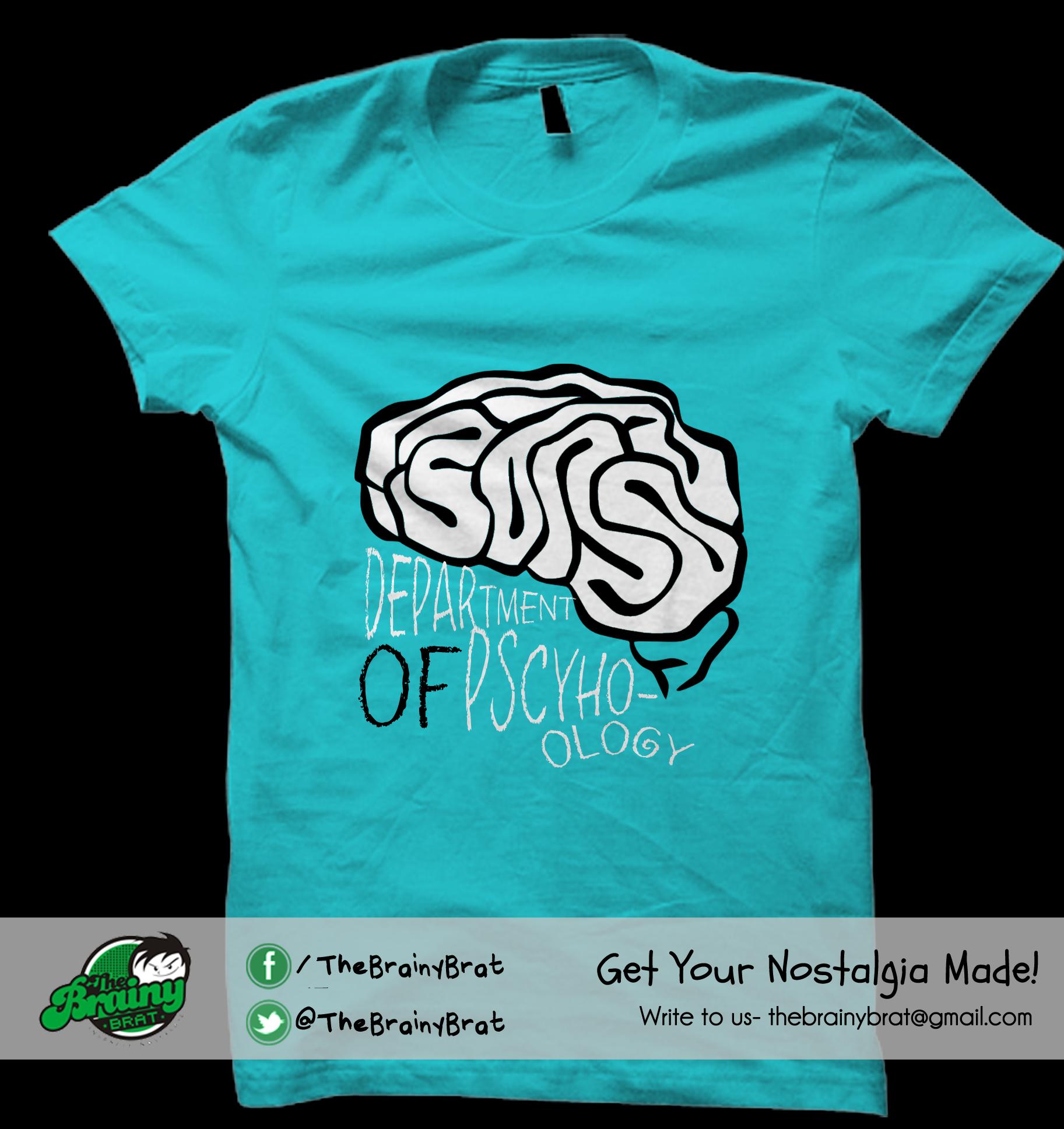 Design t shirt university - Tee Designed For Department Of Psychology Delhi University