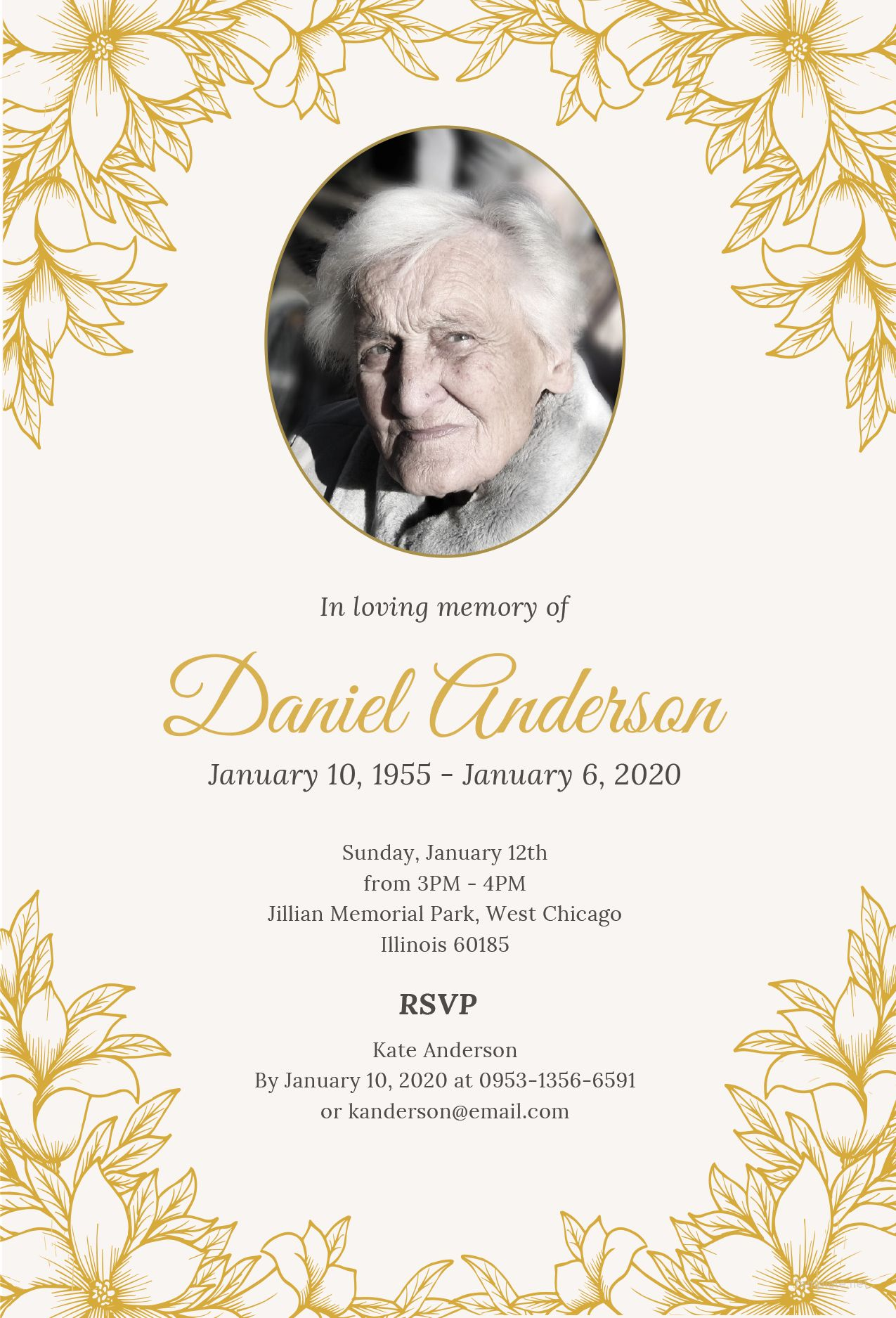 Free Funeral Ceremony Invitation In 2020 Funeral Invitation