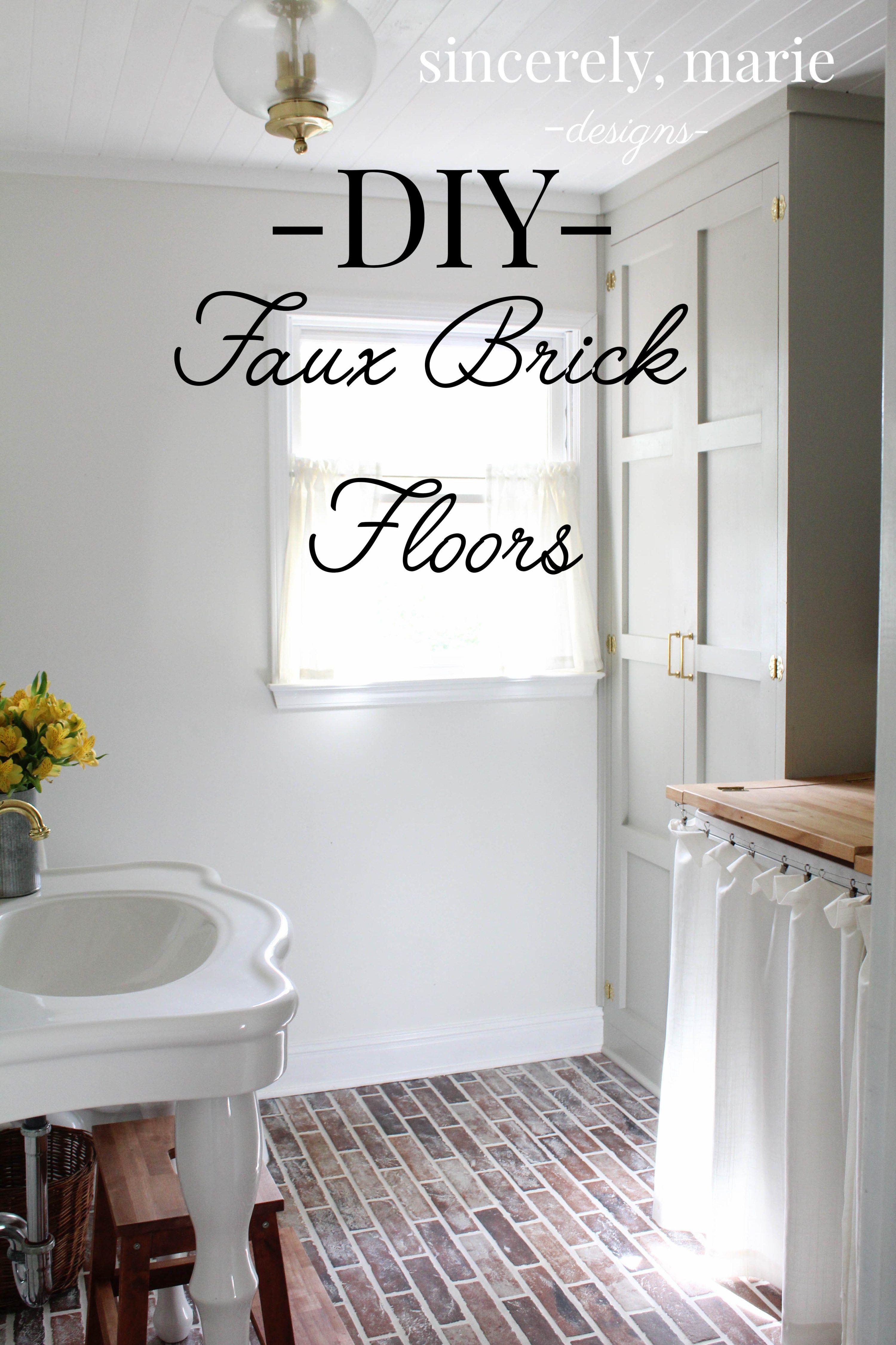 Diy Faux Brick Flooring Brick Flooring Faux Brick Faux Brick Tiles