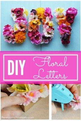 Diy Floral Letters Floral Letters