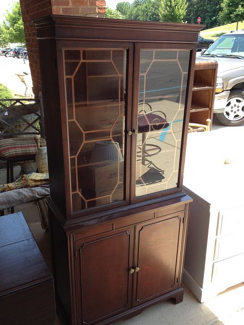 Small Mahogany China Cabinet By Newleafgalleries Via Flickr