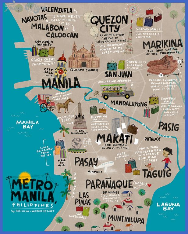 nice Manila Map Tourist Attractions Tours Maps Pinterest Manila