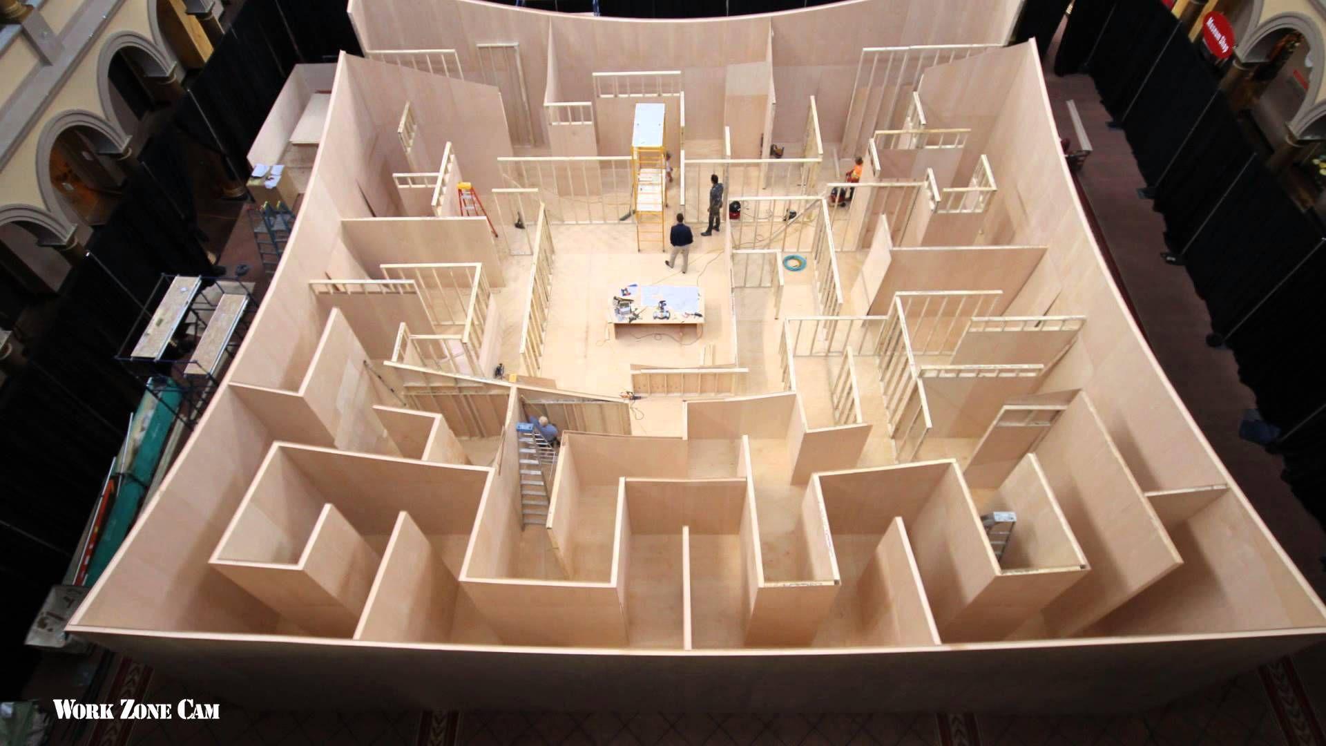 National Building Museum Big Maze Construction Time