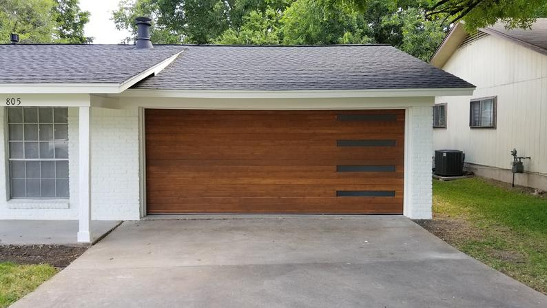 Customizable Wooden Garage Door Etsy In 2020 Wooden Garage Doors Modern Garage Doors Wooden Garage