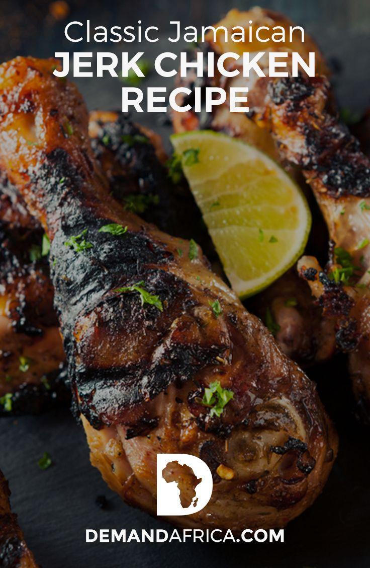 classic jamaican jerk chicken  recipe  jerk chicken