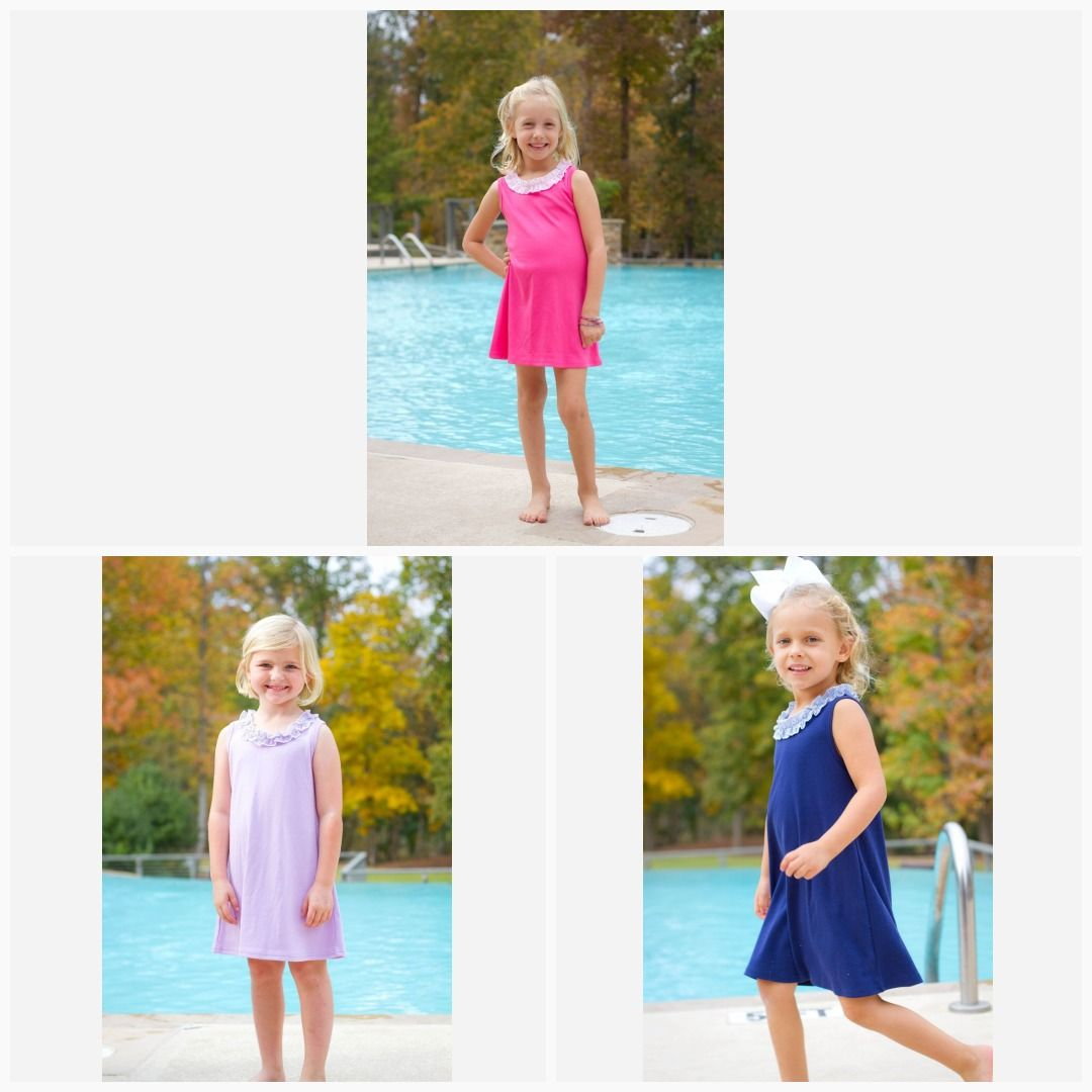 bfe395141b Girls Seersucker Icing Ruffle Knit Tank Dress- 3 Colors Avlb in 2019 ...