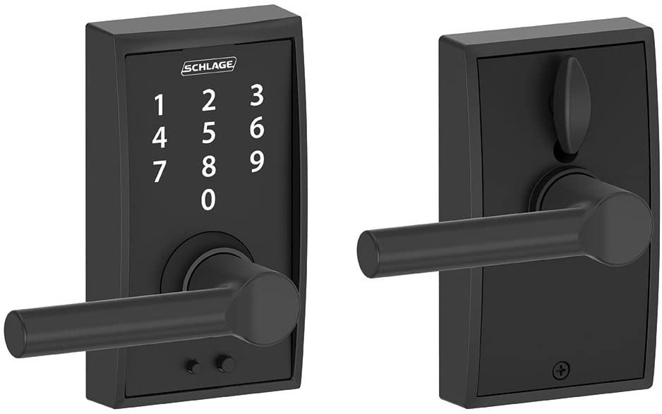 Schlage Touch Century Lock With Broadway Lever Aged Bronze Fe695 Cen 716 Brw Amazon Com In 2020 Schlage Keyless Door Lock Schlage Locks