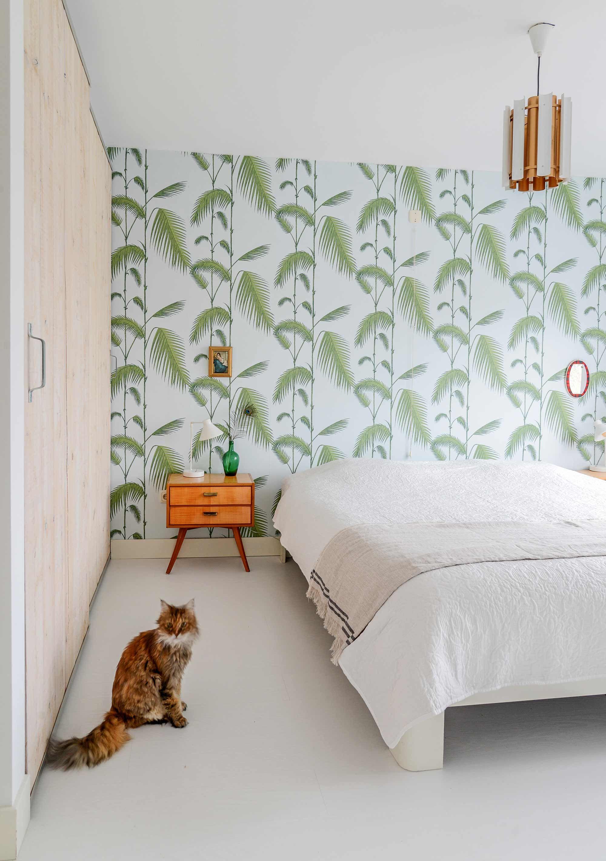 Groen behang slaapkamer  For the Home  Verf behang