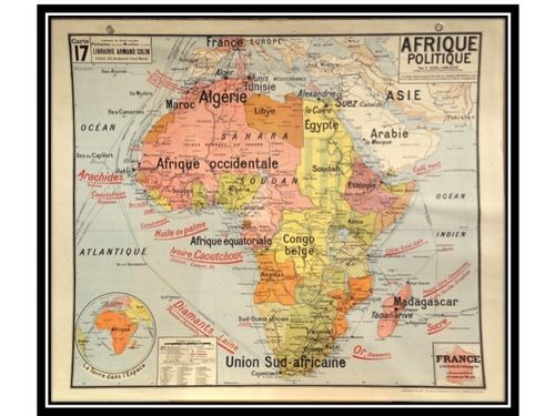 Original 1960s School Political Map Of Africa A Wonderful Example Of