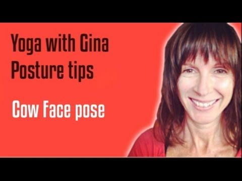 cow face with gina hardy  42yogis  cow face pose