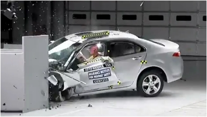 A New Crash Test By The Us Insurance Institute For Highway Safety