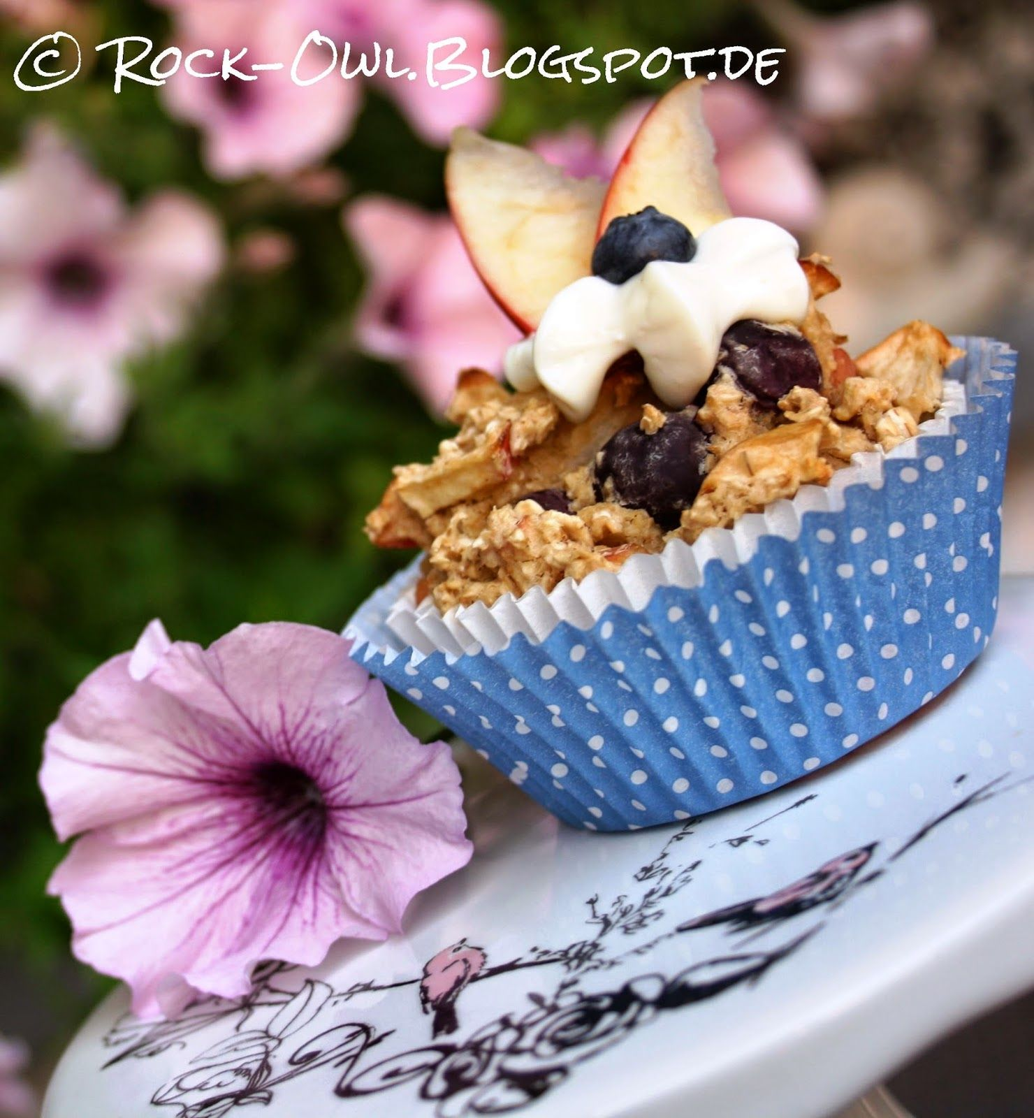 Rock and Owl: Müsli to go: Power-Muffins mit Birne und Heidelbee...
