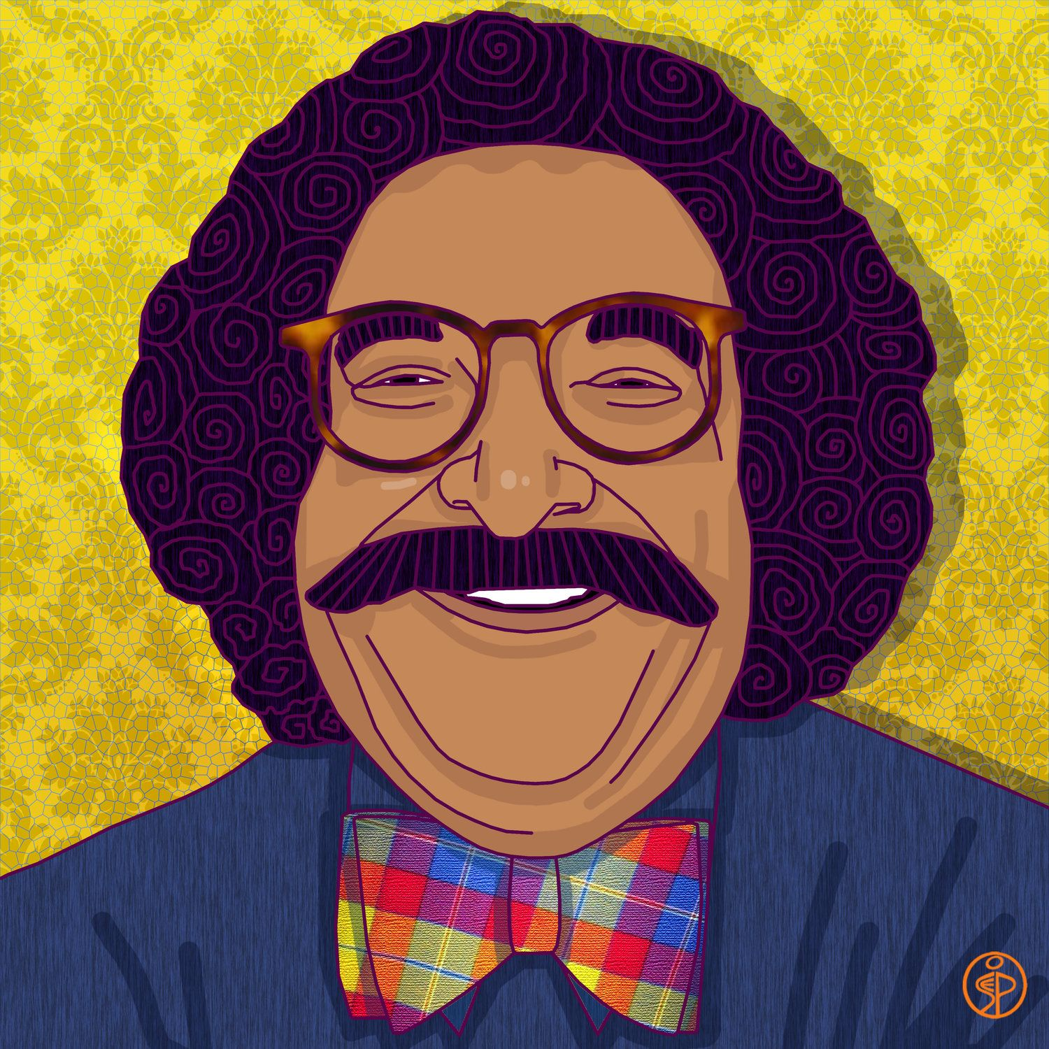 We grew up with Gene Shalit always popping up on TV and always with a smile! I saw him on the street in NYC one day and he gave me a big thumbs up, a smile and a wave! #geneshalit #thetodayshow #nbc #popart #saraphia