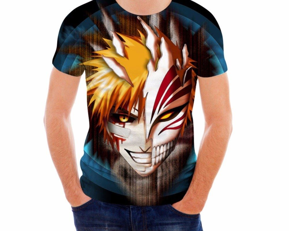 3d anime bleach print t shirt for men price 3600 free