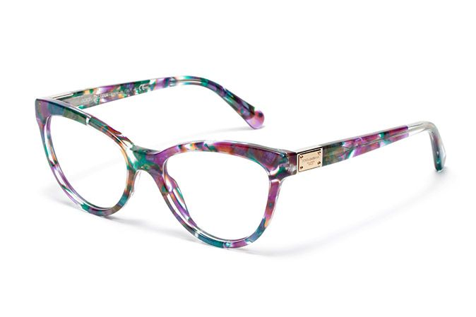 6b86c50e2d420 Women s purple-green marble acetate eyeglasses with cat-eye frame by Dolce    Gabbana dg3169