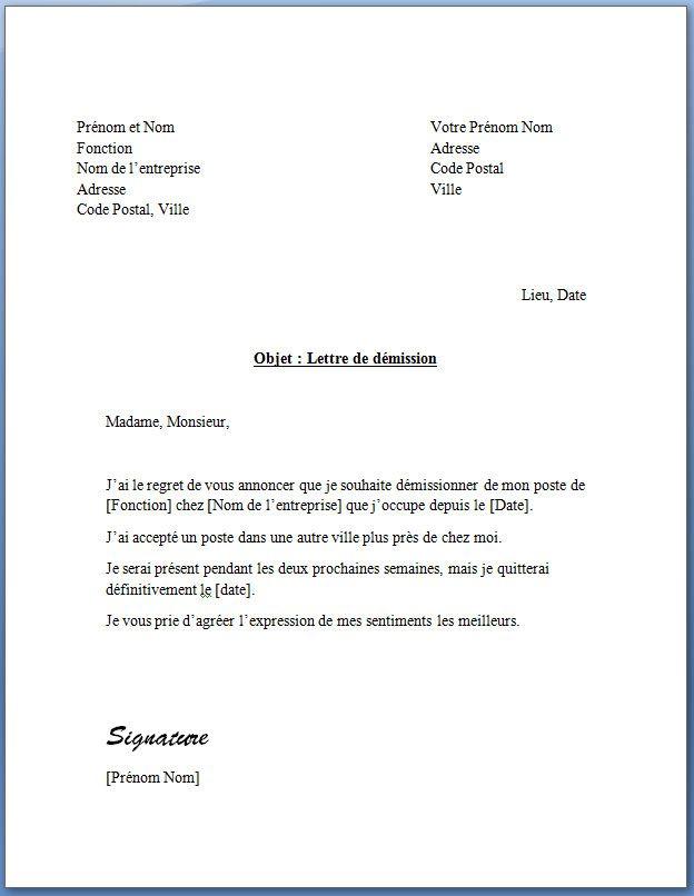 lettre demission preavis adressesmemeniveau jpg  624 u00d7806