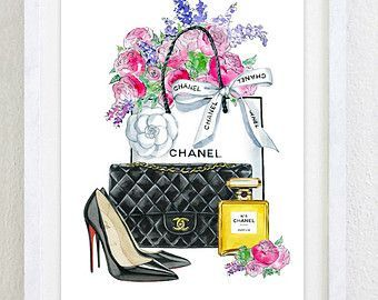 chanel desenhos - Pesquisa Google   linda   Fashion ...