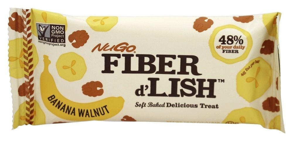Fiber d'Lish Bar Banana Walnut - 1.6 oz.NuGo Nutrition #walnutsnutrition