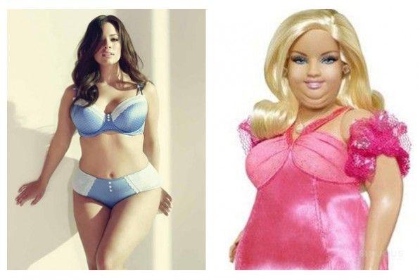 Plus-size Barbie dolls | Plus-Size Model Ashley Graham vs Plus ...