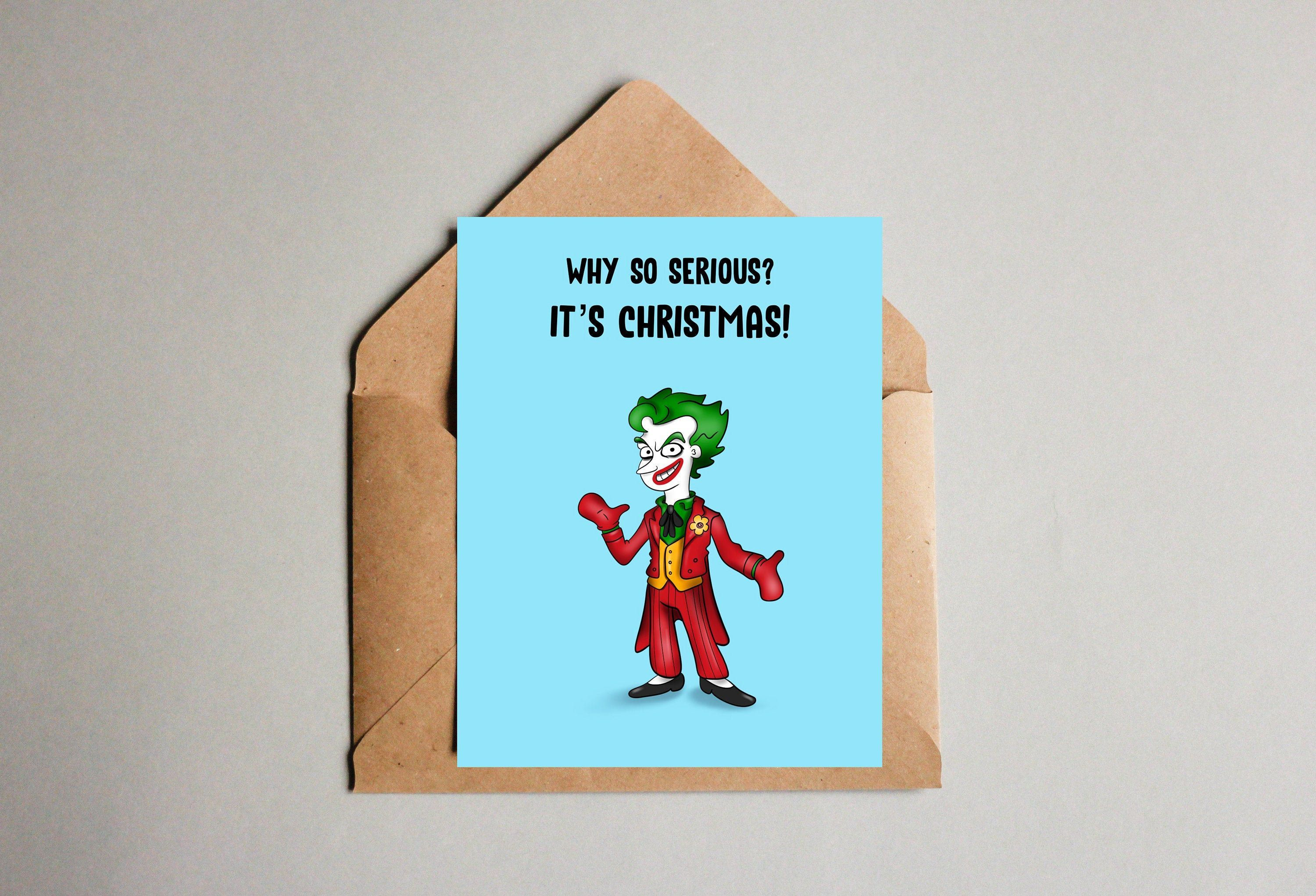 Joker Christmas card for husband, gift for boyfriend, Christmas gift ideas, personalized Christmas card, Mens Christmas gifts, pop culture #christmasgiftsforboyfriend Joker Christmas card for husband, gift for boyfriend, Christmas gift ideas, personalized Christmas card, Mens Christmas gifts, pop culture by AlyLouCards on Etsy #christmasgiftsforboyfriend
