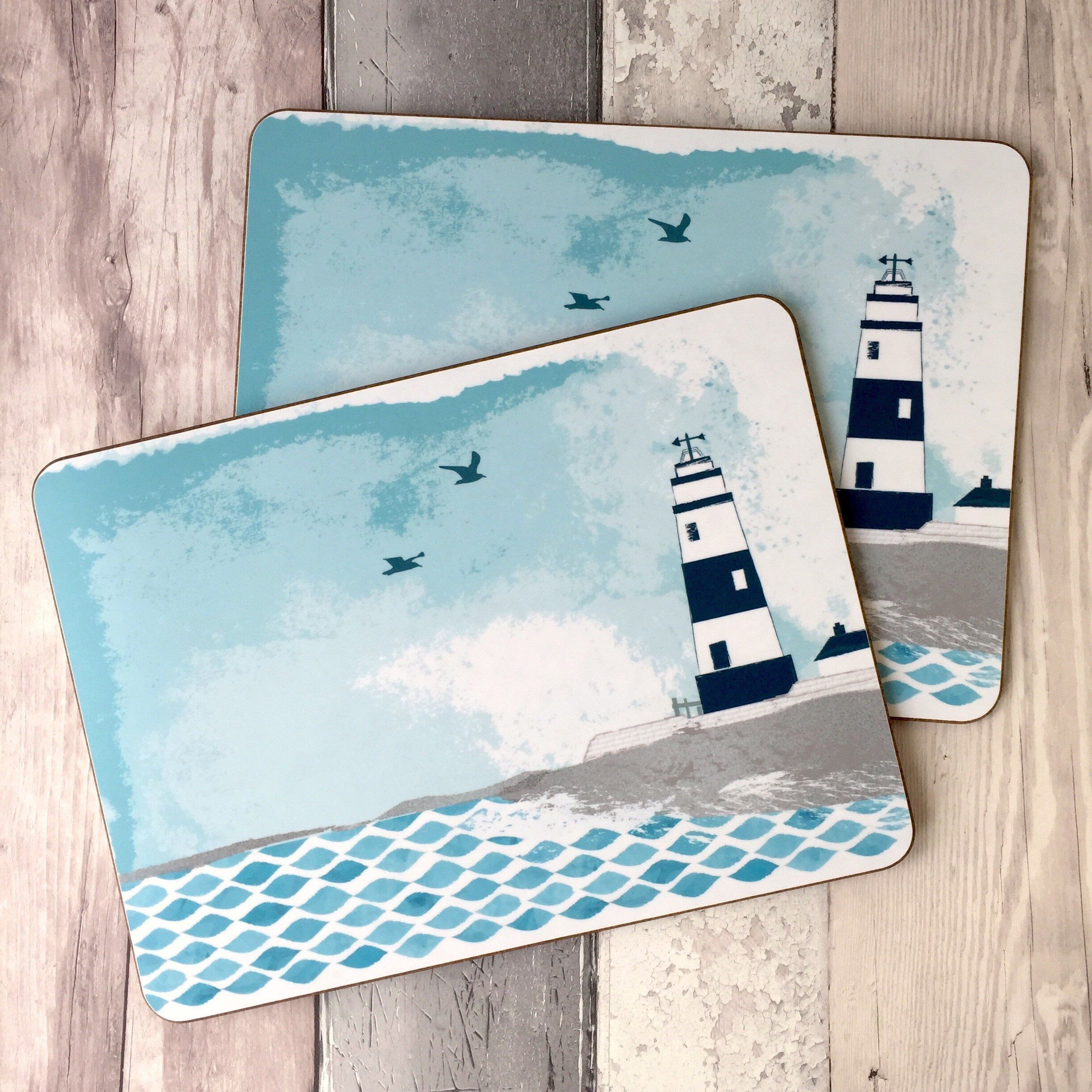 Lighthouse Gift Placemats Table Mats And Coasters Placemats Set Tablemats Coastal Kitchen Mat Tableware Gift F Lighthouse Gifts Lighthouse Art Placemats